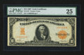 Large Size:Gold Certificates, Fr. 1167 $10 1907 Gold Certificate PMG Very Fine 25.. ...