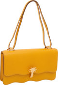 "Luxury Accessories:Bags, Hermes Jaune Yellow Epsom Leather Palm Tree Dunes Bag, 10"" x 6"" x2"", Excellent Condition. ..."
