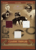 "Football Cards:Singles (1970-Now), 2006 Donruss ""Classic Triples"" Jim Thorpe, Gayle Sayers and WalterPayton Swatch Card #'d 23 of 50. ..."