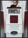 "Football Cards:Singles (1970-Now), 2007 Leaf Certified ""Immortals"" Jim Thorpe Jacket Swatch Card #'d 42 of 75. ..."