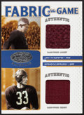 "Football Cards:Singles (1970-Now), 2007 Leaf Certified ""Fabric if The Game"" Jim Thorpe and Sammy BaughSwatch Card #'d 18 of 75. ..."