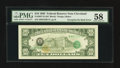 Error Notes:Third Printing on Reverse, Fr. 2027-D $10 1985 Federal Reserve Note. PMG Choice About Unc 58.. ...