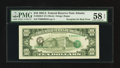 Error Notes:Third Printing on Reverse, Fr. 2026-F $10 1981A Federal Reserve Note. PMG Choice About Unc 58 EPQ.. ...