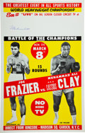 Boxing Collectibles:Memorabilia, 1971 Muhammad Ali vs. Joe Frazier Closed-Circuit Poster Signed by Ali....