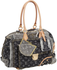 "Louis Vuitton Monogram Denim Patchwork Bowly Bag, 15"" x 9"" x 8"", Excellent Condition"