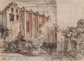 Mainstream Illustration, DEAN CORNWELL (American, 1892-1960). Medieval Scene.Charcoal and pastel on paper. 14 x 19.25 in.. Not signed. From...