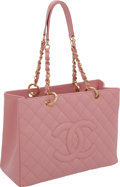 "Luxury Accessories:Bags, Chanel Pink Caviar Leather Classic Grand Shopper Tote Bag, 13"" x 9""x 5.5"", Excellent Condition. ..."