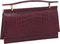 "Luxury Accessories:Bags, Judith Leiber Shiny Raspberry Alligator Evening Clutch, 9.5"" x 5"" x2"", Pristine Condition. ..."