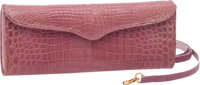"""Lana Marks Shiny Lilac Alligator Femme Fatale Convertible 3-Way Clutch, 10"""" x 4"""" x 1.5"""", Excellent Condit..."""