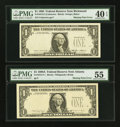Error Notes:Missing Third Printing, Fr. 1913-E $1 1985 Federal Reserve Note. PMG Extremely Fine 40 EPQ.. Fr. 1915-F $1 1988A Federal Reserve Note. PMG About U... (Total: 2 notes)
