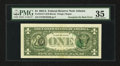 Error Notes:Third Printing on Reverse, Fr. 1912-F $1 1981A Federal Reserve Note. PMG Choice Very Fine 35.. ...