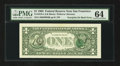 Error Notes:Third Printing on Reverse, Fr. 1919-L $1 1993 Federal Reserve Note. PMG Choice Uncirculated 64.. ...