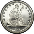 Proof Seated Quarters, 1861 25C PR66 Cameo PCGS....
