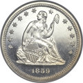 Proof Seated Quarters, 1859 25C PR67 Cameo NGC. Briggs 2-B....