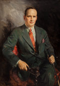 Mainstream Illustration, HOWARD CHANDLER CHRISTY (American, 1872-1952). Portrait of aGentleman, 1931. Oil on canvas. 45 x 32 in.. Signed and dat...