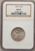 Seated Quarters, 1876-S 25C MS65 NGC. Breen-4085. ...