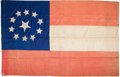 Military & Patriotic:Civil War, Beautiful Confederate All Silk Eleven Star 1st National Flag with Fonda Thomsen Analysis Report....