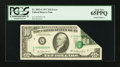 Error Notes:Foldovers, Fr. 2023-G $10 1977 Federal Reserve Note. PCGS Gem New 65PPQ.. ...