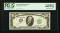 Error Notes:Obstruction Errors, Fr. 2011-D $10 1950A Federal Reserve Note. PCGS Very Choice New64PPQ.. ...