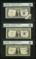 Error Notes:Error Group Lots, Fr. 1614 $1 1935E Silver Certificate. PMG Very Fine 30.. ...(Total: 3 notes)