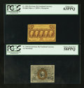 Fractional Currency:First Issue, Fr. 1281 25¢ First Issue PCGS Choice New 63PPQ and Fr. 1244 10¢ Second Issue PCGS Choice About New 58PPQ.. ... (Total: 2 notes)