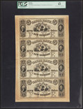 Obsoletes By State:Louisiana, New Orleans, LA- New Orleans Canal & Banking Company $5-$5-$5-$5 G12a-G12a-G12a-G12a Uncut Sheet. ...