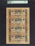 Obsoletes By State:Louisiana, New Orleans, LA- New Orleans Canal & Banking Company $20-$20-$20-$20 G34a-G34a-G34a-G34a Uncut Sheet. ...