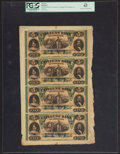 Obsoletes By State:Louisiana, New Orleans, LA- Citizens' Bank of Louisiana $5-$5-$5-$5 Oct. 9, 1860 G14a-G14a-G14a-G14a Uncut Sheet. ...