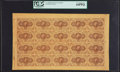 Fractional Currency:First Issue, Fr. 1230 5¢ First Issue Uncut Sheet of Twenty PCGS Very Choice New64PPQ.. ...