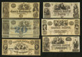Obsoletes By State:Louisiana, New Orleans, LA- New Orleans Canal and Banking Company Remainder Collection.. ... (Total: 7 notes)