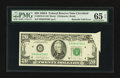 Error Notes:Foldovers, Fr. 2076-D $20 1988A Federal Reserve Note. PMG Gem Uncirculated 65EPQ.. ...