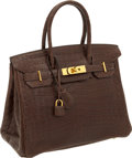 Luxury Accessories:Bags, Hermes 30cm Matte Havana Nilo Crocodile Birkin Bag with GoldHardware. ...