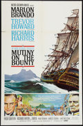 """Movie Posters:Adventure, Mutiny on the Bounty (MGM, 1962). One Sheet (27"""" X 41"""") Style B,and Pressbook (Multiple Pages, 14"""" X 19""""). Adventure.. ... (Total:2 Items)"""