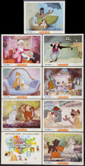 "Movie Posters:Animated, The Aristocats (Buena Vista, 1970). One Sheet (27"" X 41""), LobbyCard Set of 9 (11"" X 14""), and Window Card (14"" X 22""). Ani...(Total: 11 Items)"
