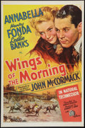 """Movie Posters:Drama, Wings of the Morning (20th Century Fox, 1937). One Sheet (27"""" X 41""""). Drama.. ..."""