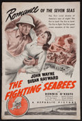 "Movie Posters:War, The Fighting Seabees (Republic, 1944). Pressbook (Multiple Pages,12"" x 18""). War.. ..."