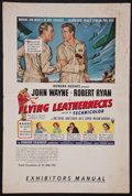 "Movie Posters:War, Flying Leathernecks (RKO, 1951). Pressbook (Multiple Pages) (12' X 18""). War.. ..."