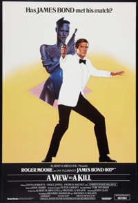 "A View to a Kill (United Artists, 1985). British One Sheet (27"" X 40""). James Bond"