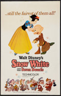 "Movie Posters:Animation, Snow White and the Seven Dwarfs (Buena Vista, R-1967). Window Card (14"" X 22""). Animation.. ..."