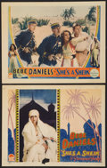 "Movie Posters:Adventure, She's a Sheik (Paramount, 1927). Lobby Cards (2) (11"" X 14"").Adventure.. ... (Total: 2 Items)"