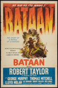 "Movie Posters:War, Bataan (MGM, 1943). One Sheet (27"" X 41"") Style C. War.. ..."