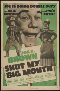 "Shut My Big Mouth (Columbia, R-1947). One Sheet (27"" X 41""). Comedy"