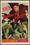 "Movie Posters:Comedy, Follow the Leader (Monogram, 1944). One Sheet (27"" X 41""). Comedy.. ..."