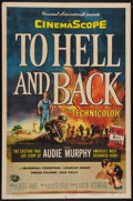 """Movie Posters:War, To Hell and Back (Universal International, 1955). One Sheet (27"""" X41""""). War.. ..."""