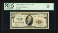 National Bank Notes:Wyoming, Laramie, WY - $10 1929 Ty. 2 The First NB Ch. # 4989. ...