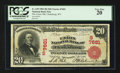 National Bank Notes:West Virginia, Clarksburg, WV - $20 1902 Red Seal Fr. 639 The Union NB Ch. #(S)7681. ...
