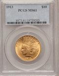 Indian Eagles: , 1913 $10 MS61 PCGS. PCGS Population (490/2391). NGC Census:(1323/2550). Mintage: 442,071. Numismedia Wsl. Price for proble...