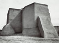 Photographs:20th Century, ANSEL ADAMS (American, 1902-1984). St. Francis Church, Rancho deTaos, 1929-30. Gelatin silver, 1977. 9-1/4 x 13 inches ...