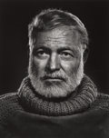 Photographs:20th Century, YOUSUF KARSH (Canadian, 1908-2002). Ernest Hemingway, 1957.Gelatin silver, printed later. 19-3/4 x 15-3/4 inches (50.2 ...