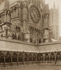 Photographs:19th Century, FREDERICK HENRY EVANS (British, 1853-1943). Lincoln Cathedral, Cloisters and North Transept, 1900. Platinum . 6-3/4 x 6 ...